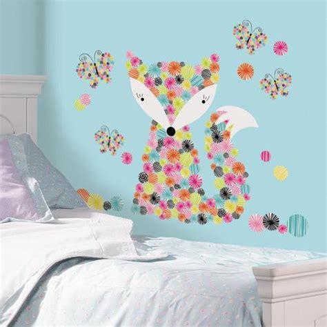 wielorazowe naklejki dekoracyjne roommates kolorowy lis