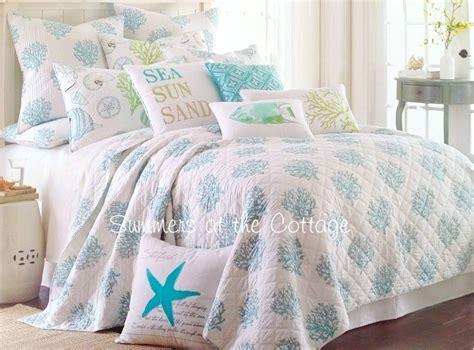 Coastal Living Comforter Sets by Coastal Living Sea Glass Aqua Blue Coral Reef Cabana