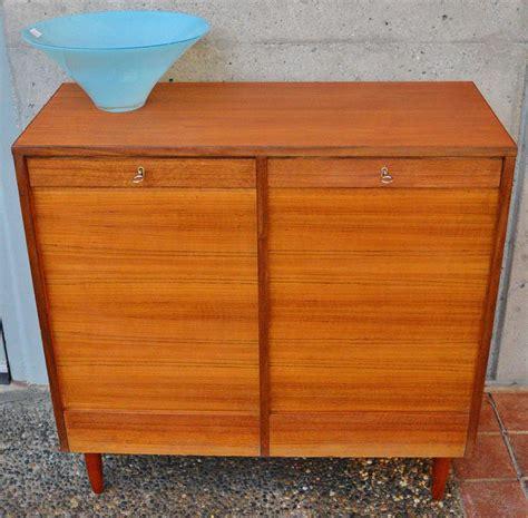 Teak File Cabinet by Teak Tambour Door Flat File Storage Cabinet At 1stdibs