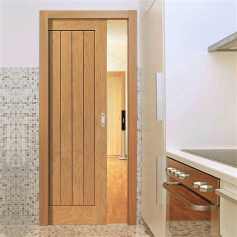 Sliding Interior Doors Uk River Thames Original Oak Single Pocket Door