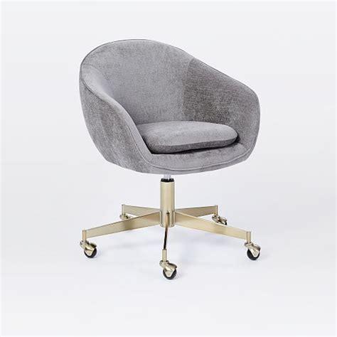 velvet swivel desk chair alys swivel office chair west elm