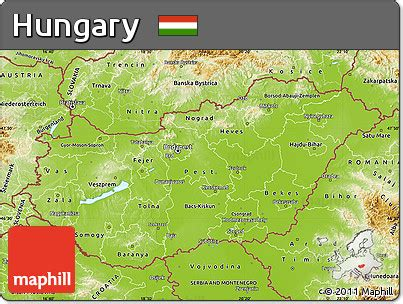 physical map of hungary free physical map of hungary
