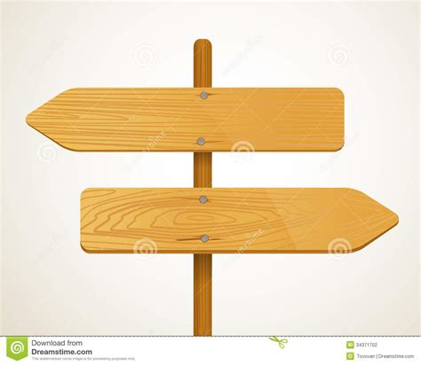 blank wood arrow boarders stock photography image 34371702