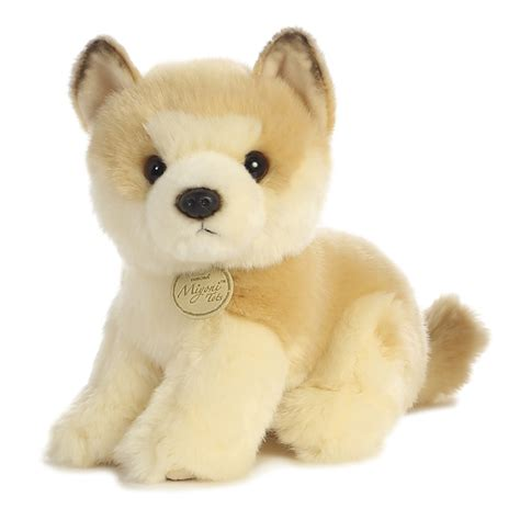 stuffed puppy realistic stuffed akita puppy 9 inch plush by