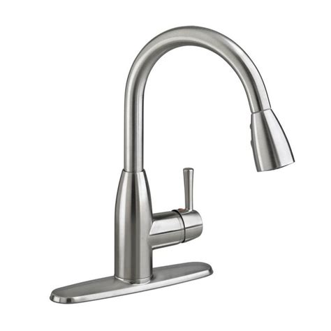 home depot kitchen faucets pull down american standard fairbury single handle pull down sprayer