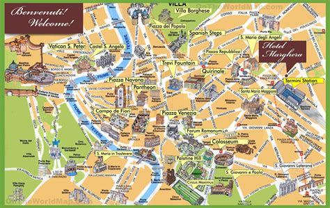 rome italy map rome sightseeing map