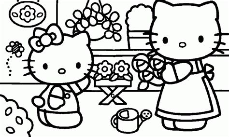 hello kitty mothers day coloring pages hello kitty computer coloring pages coloring home