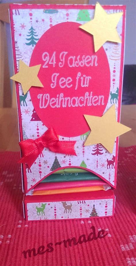 Weihnachtskarten Zum Basteln 5996 by Mes Made Adventskalender Und Schoko Adventskalender