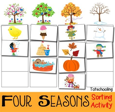 card sort activity template four seasons sorting activity free printable