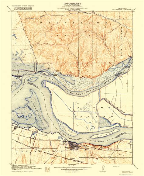 california quadrangle map historical topographical maps collinsville california
