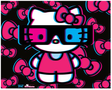 hello kitty with glasses wallpaper hello kitty images 3d hello kitty wallpaper and background