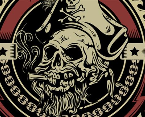 vector emblem tutorial illustrator tutorial vintage pirate skull emblem