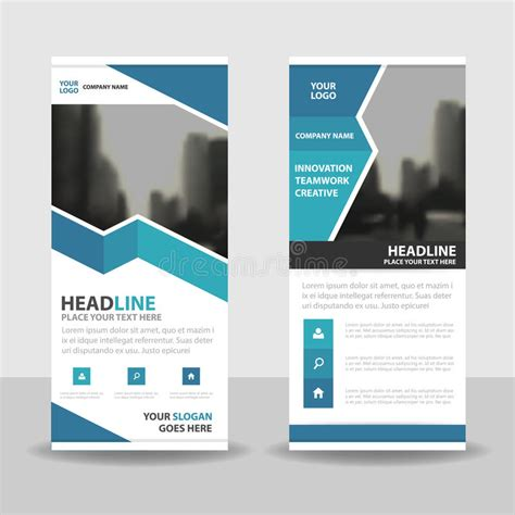 design x banner vector blue roll up business brochure flyer banner design cover
