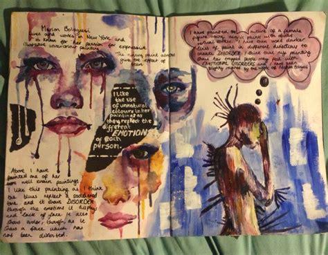 final layout artist sketchbook gcse art fantasy pinterest sketchbooks