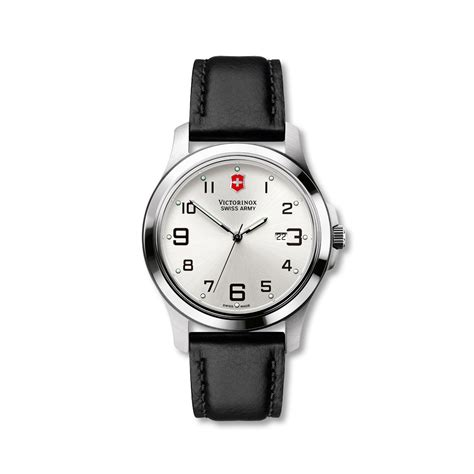 Swiss Army Leather Black List White victorinox swiss army garrison elegance large silver