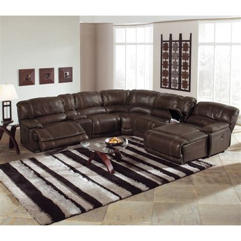 sectional sofa with chaise lounge and recliner st malo 6 piece power reclining sectional sofa with