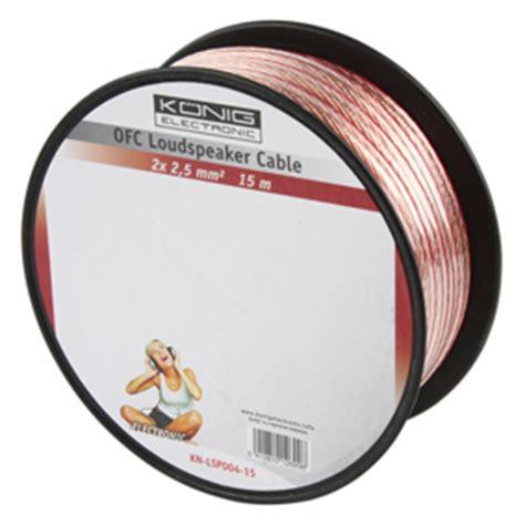 Kabel Rol Modxta 15 Meter luidsprekerkabel transparant 2 x 4mm 178 rol 15 meter