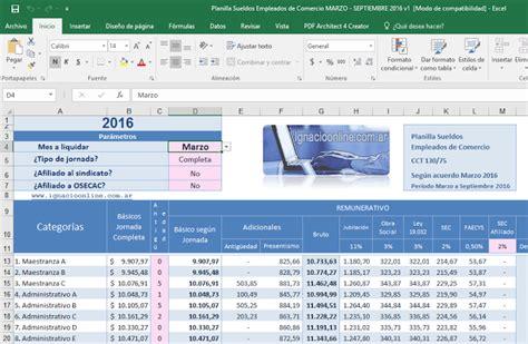 ignacio online empleados de comercio liquidaci 243 n sueldo sueldo empleados de comercio febrero 2016 empleados de