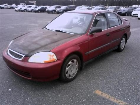 sell used no reserve 1997 honda civic lx sedan 4 door 1 6l