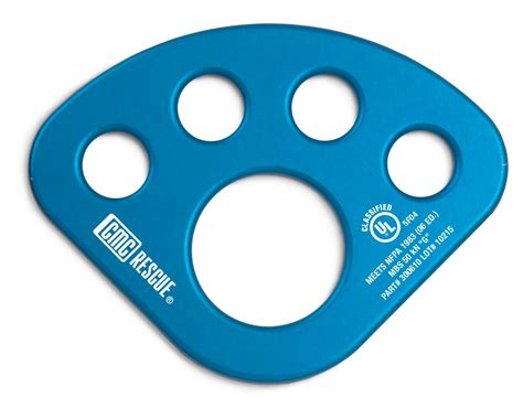 Sterling Direct Background Check Time Cmc Aluminum Anchor Plate Blue Nfpa Rescuedirect