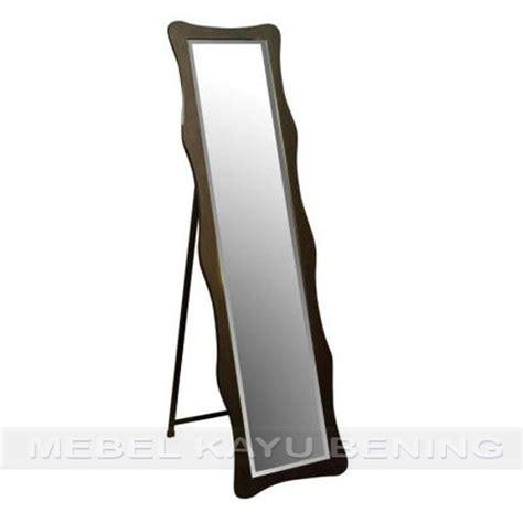 Cermin Jati Minimalis cermin pigura kaca kayu jati minimalis wave mebel kayu bening