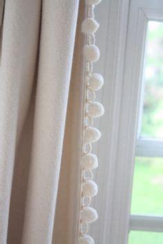 White Curtains With Pom Poms Decorating Pom Pom Trim On Pom Poms Pom Pom Curtains And Burlap Curtains