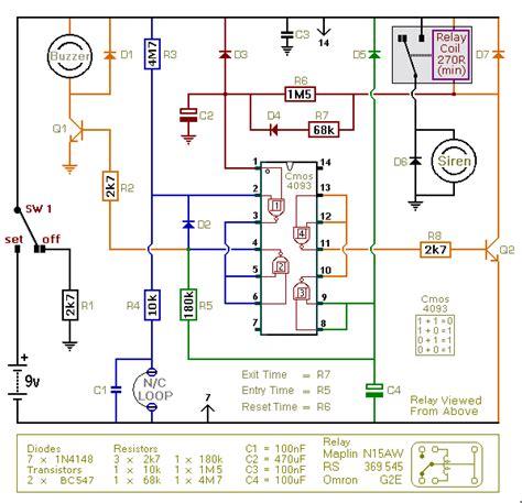 burglar alarm wiring diagram pdf burglar alarm burglar alarm circuit diagram