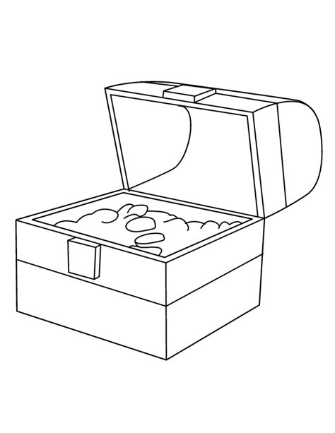 treasure chest coloring page coloring home
