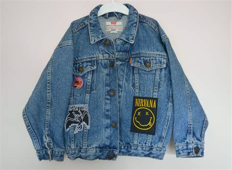 Jaket Rock Denim Rock Metal Custom Denim Jacket From Rowdy Roddy