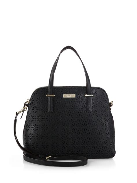 Kate Spade Maise Cedar Perforated Satch Bag kate spade cedar perforated maise satchel in black