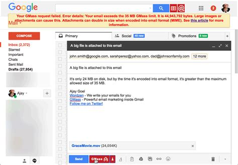 format email in gmail understanding the gmail email size limit