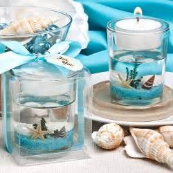 Stunning beach themed candle favor tropical bridal shower favor ideas