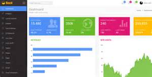 rock admin dashboard template html bootstrap template