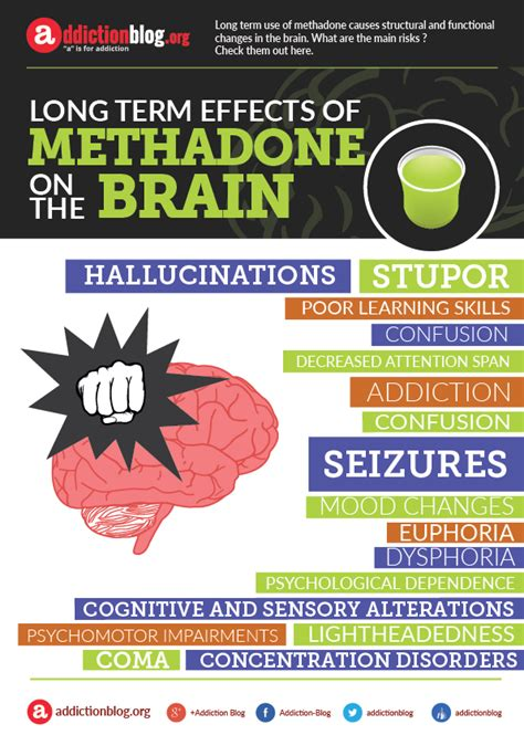 Term Opiate Detox Using Methadone by Term Effects Of Methadone On The Brain Infographic