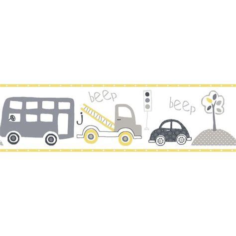kinderzimmer bordure grau galerie kinderzimmer bord 252 re autofahrt grau gelb bei