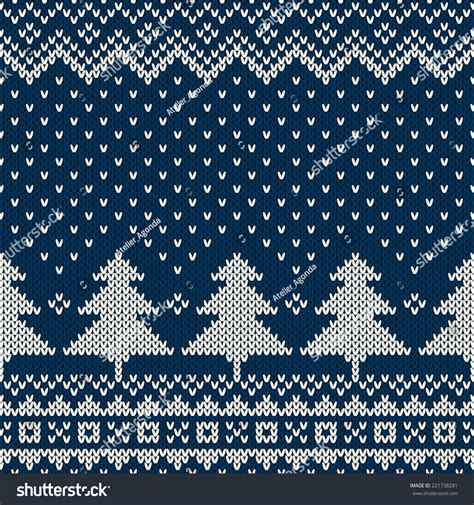 seamless knitted pattern vector winter holiday seamless knitting pattern stock vector
