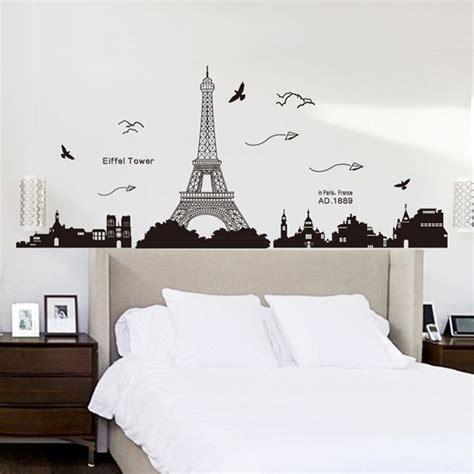 Wallpaper Wallsticker Tegel Tl 03 4 87 parigi torre eiffel view romantica simple black diy wall stickers