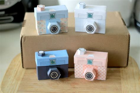 Printable Paper Camera | 4 printable paper craft cameras pdf file vintage camera