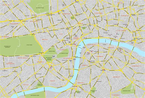 map of river thames central london central london map royalty free editable vector map