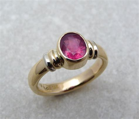 strawberry spinel gold rings ring gold spinel