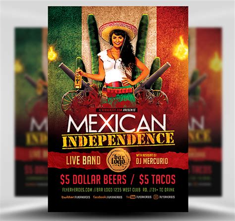 independence day flyer mexican independence day flyer template flyerheroes