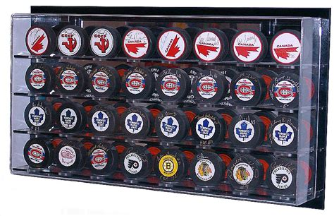 Hockey Puck Display Shelf by Hockey Paraphernalia Cases