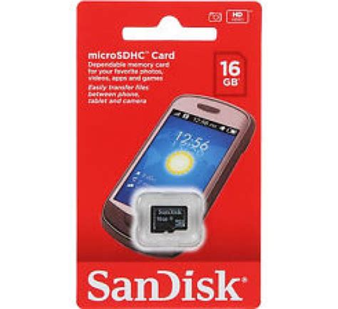 Microsd Sandisk 16gb 16gb sandisk microsdhc memory card