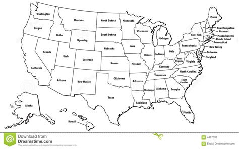 template of united states us map outline of states united states map blank with us