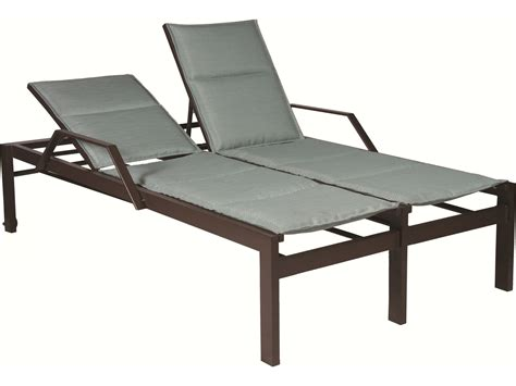 chaise lounge with wheels suncoast vectra bold sling cast aluminum double chaise