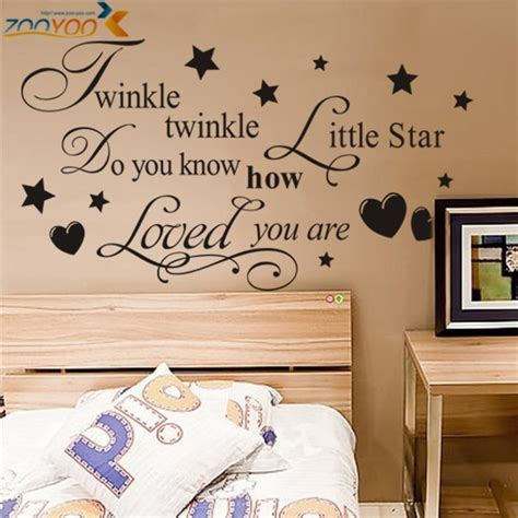 Diy Bedroom Wall Quotes Aliexpress Buy Twinkle Twinkle Wall Decals Litter