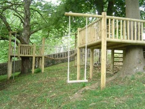 Backyard Treehouse Ideas by Tree Platform I The Swing The Side Of The