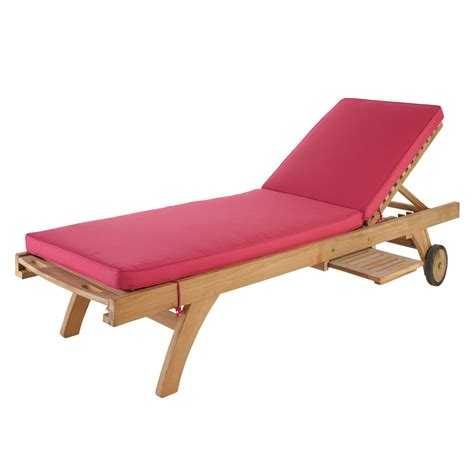 Sun Lounger Mattress fuchsia sun lounger mattress l 196 cm maisons du monde