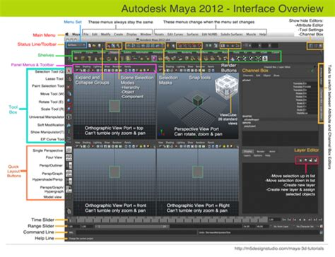 Home Design Autodesk Autodesk Maya 3d 2012 User Interface Overview Learn Maya