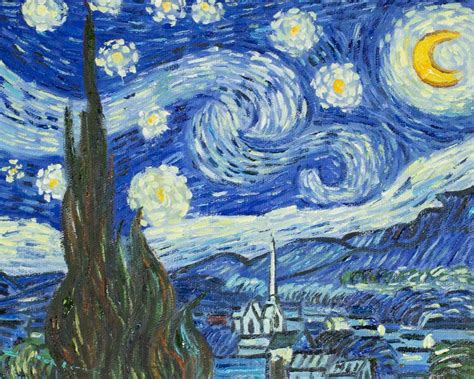 Starry Nights gogh starry 8x10 reproduction painting